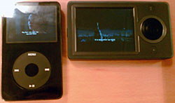 iPod and Zune